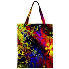 Awesome Fractal 35c Zipper Classic Tote Bag