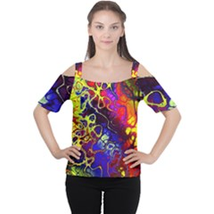 Awesome Fractal 35c Cutout Shoulder Tee