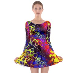 Awesome Fractal 35c Long Sleeve Skater Dress