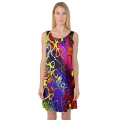 Awesome Fractal 35c Sleeveless Satin Nightdress