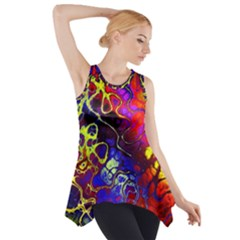 Awesome Fractal 35c Side Drop Tank Tunic