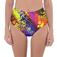 Awesome Fractal 35c Reversible High Waist Bikini Bottoms