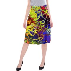 Awesome Fractal 35c Midi Beach Skirt