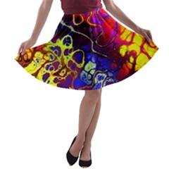 Awesome Fractal 35c A Line Skater Skirt