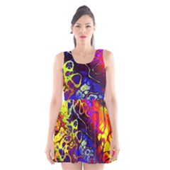 Awesome Fractal 35c Scoop Neck Skater Dress