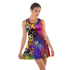 Awesome Fractal 35c Cotton Racerback Dress