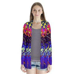 Awesome Fractal 35c Drape Collar Cardigan