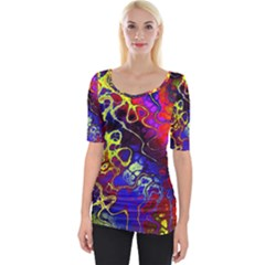 Awesome Fractal 35c Wide Neckline Tee