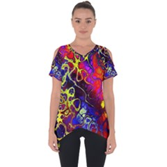 Awesome Fractal 35c Cut Out Side Drop Tee