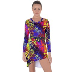 Awesome Fractal 35c Asymmetric Cut Out Shift Dress