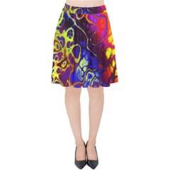 Awesome Fractal 35c Velvet High Waist Skirt