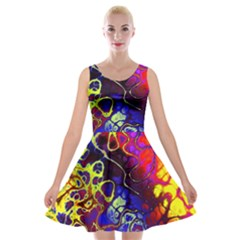 Awesome Fractal 35c Velvet Skater Dress