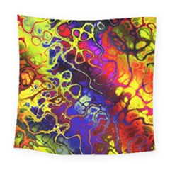 Awesome Fractal 35c Square Tapestry (large)