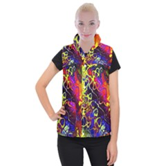 Awesome Fractal 35c Women s Button Up Puffer Vest