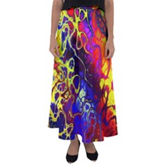Awesome Fractal 35c Flared Maxi Skirt