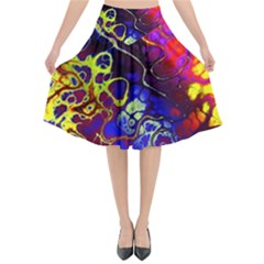 Awesome Fractal 35c Flared Midi Skirt