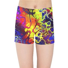 Awesome Fractal 35c Kids Sports Shorts