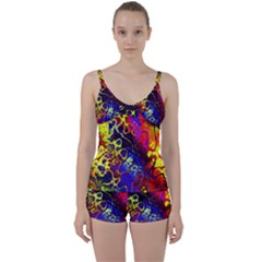 Awesome Fractal 35c Tie Front Two Piece Tankini