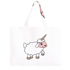 Unicorn Sheep Zipper Large Tote Bag