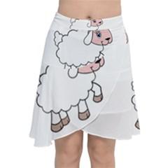 Unicorn Sheep Chiffon Wrap