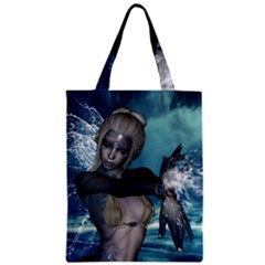 The Wonderful Water Fairy With Water Wings Zipper Classic Tote Bag