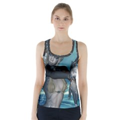 The Wonderful Water Fairy With Water Wings Racer Back Sports Top