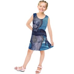 The Wonderful Water Fairy With Water Wings Kids  Tunic Dress