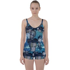 The Wonderful Water Fairy With Water Wings Tie Front Two Piece Tankini