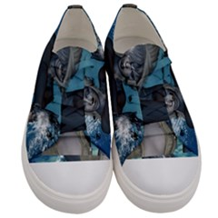 The Wonderful Water Fairy With Water Wings Women s Low Top Canvas Sneakers