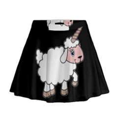 Unicorn Sheep Mini Flare Skirt