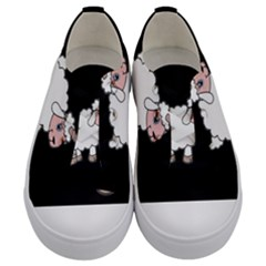 Unicorn Sheep Kids  Low Top Canvas Sneakers
