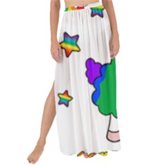 Unicorn Sheep Maxi Chiffon Tie Up Sarong