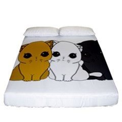 Cute Cats Fitted Sheet (california King Size)