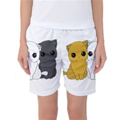 Cute Cats Women s Basketball Shorts