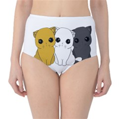 Cute Cats High Waist Bikini Bottoms