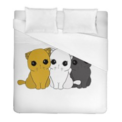 Cute Cats Duvet Cover (full/ Double Size)