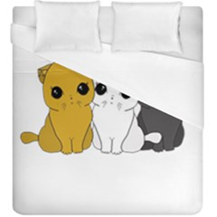 Cute Cats Duvet Cover (king Size)