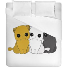 Cute Cats Duvet Cover Double Side (california King Size)