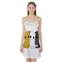 Cute Cats Satin Night Slip