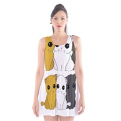 Cute Cats Scoop Neck Skater Dress