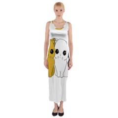 Cute Cats Fitted Maxi Dress
