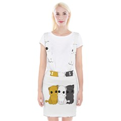 Cute Cats Braces Suspender Skirt