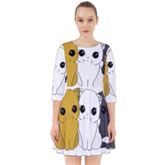 Cute Cats Smock Dress
