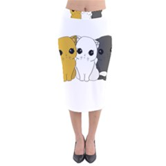 Cute Cats Velvet Midi Pencil Skirt