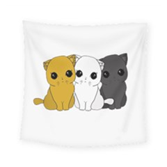 Cute Cats Square Tapestry (small)