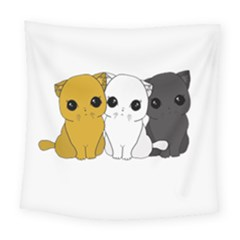 Cute Cats Square Tapestry (large)