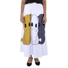 Cute Cats Flared Maxi Skirt