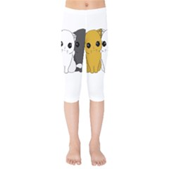 Cute Cats Kids  Capri Leggings