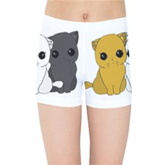 Cute Cats Kids Sports Shorts