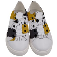 Cute Cats Women s Low Top Canvas Sneakers